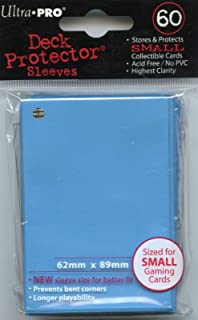 Ultra Pro Card Supplies YuGiOh Deck Protector Sleeves Light Blue 60Count, Trading Card Sleeves
