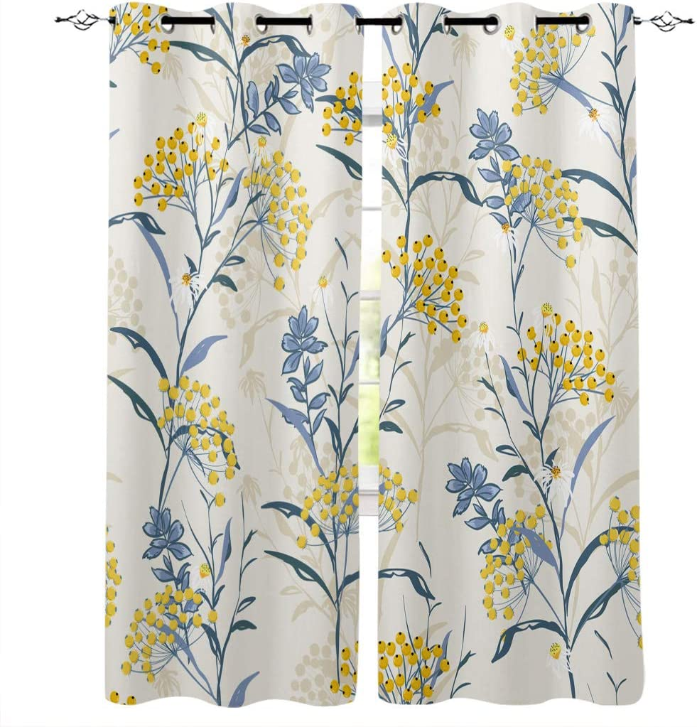 Curtains for Living Room 84 Inch Portland Mall P Drapes Floral Vintage Length New item