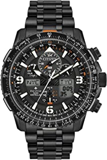 CITIZEN Mens Solar Powered Watch, Analog- Digital Display and Stainless Steel Strap - JY8085-81E