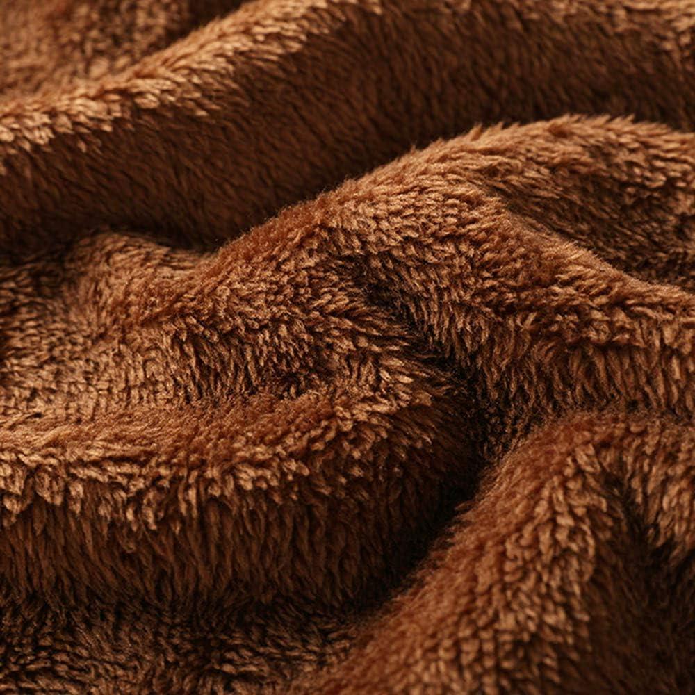 POPLY Damen Jacke Mäntel Herbst Winter Warm Outwear Kapuzenmantel Leopardenmuster Kapuzen Taschen Vintage Oversize Windbreaker Parka Braun