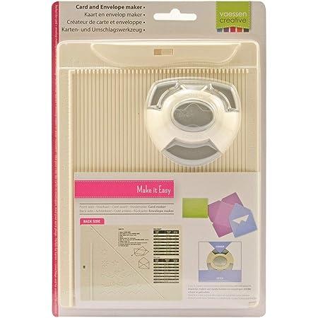 Vaessen creative 2137-031 Kit de Création de Carte et d'Enveloppe avec Perforatrice, Métal/Plastique, Gris, 21,5 x 16,2 x 5 cm