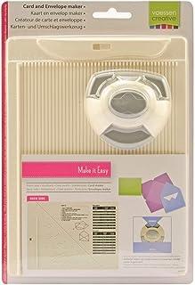 Vaessen creative 2137-031 Kit de Création de Carte et d'Enveloppe avec Perforatrice, Métal/Plastique, Gris, 21,5 x 16,2 x ...