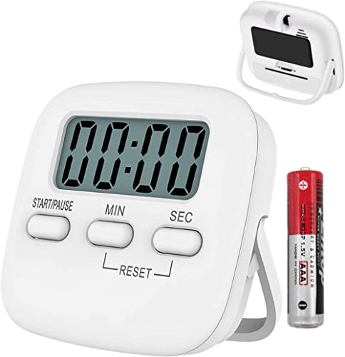 T Tersely 1 Pack Kitchen Timer with AAA Battery Included, Digital Kitchen Timers with Countdown,Loud Alarm,Auto-Off, ...
