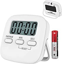T Tersely 1 Pack Kitchen Timer with AAA Battery Included, Digital Kitchen Timers with Countdown,Loud Alarm,Auto-Off, Magne...
