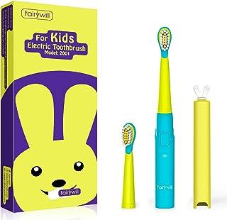 Elektrische Zahnbürste Kinder, Fairywill Kinder Schallzahnbürste Ultraschall-Technologie für Kinder, Kindertagsgeschenke m...