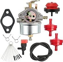 Buckbock 632334 Carburetor fit Tecumseh 632334A 632111 HM80 HM70 HMSK80 HMSK90 John Deere AM108405 AM134818 AM38161 AM100941 AM100246 AM108412 Snow Blowers Slowblower with Fuel Filter Primmer Bulb