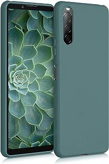 kwmobile telefoonhoesje compatibel met Sony Xperia 10 II - Hoesje voor smartphone - Back cover in blauwgroen