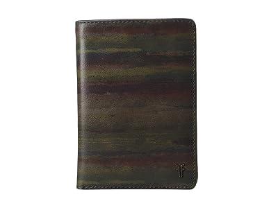 Frye Austin Passport Wallet (Dark Multi) Handbags