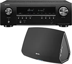 Denon AVR-S650H 5.2 Channel Network AV Receiver compatible with Amazon music hd Bundle with Denon HEOS 5 HS2 speaker for another room Hi-Resolution Wireless Bluetooth Speaker( Alexa Enabled ) - Black