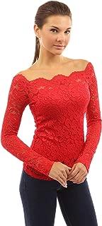 Women Floral Lace Off Shoulder Twinset Top