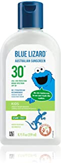 Blue Lizard KIDS Mineral Sunscreen with Zinc Oxide, SPF 30+, Water Resistant, UVA/UVB Protection with Smart Bottle Technol...