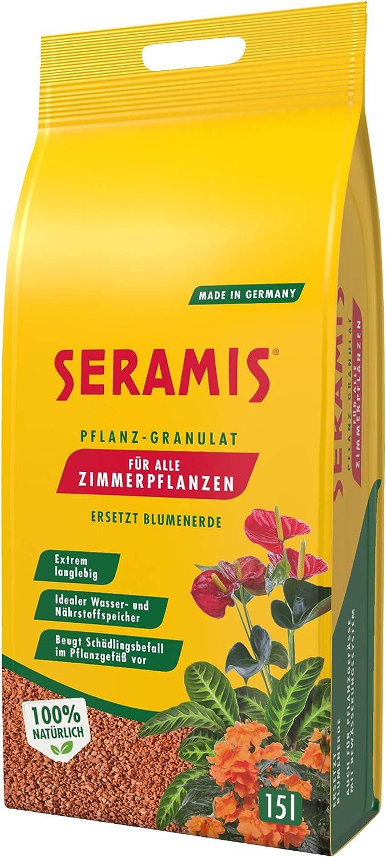 Seramis granulado para plantas interiores, 15 l – gránulos de arcilla expandida para el almacenamiento de agua y de los nutrientes más importantes