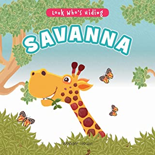 Look Who's Hiding - Savanna : Pull The Tab Novelty Books For Children