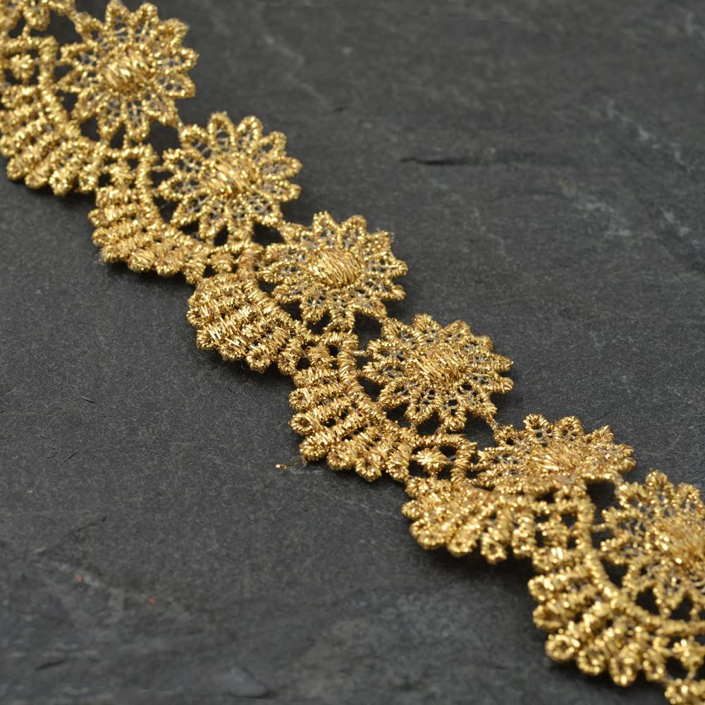 1-1 Some reservation 4 Inch mart Metallic Gold Lace or Bridal Trim for Costume Jewelr