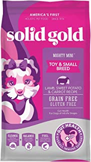 Solid Gold Mighty Mini - Sensitive Stomach - Probiotic Support -Lamb Grain-Free - Natural Holistic Dog Food for Toy & Smal...