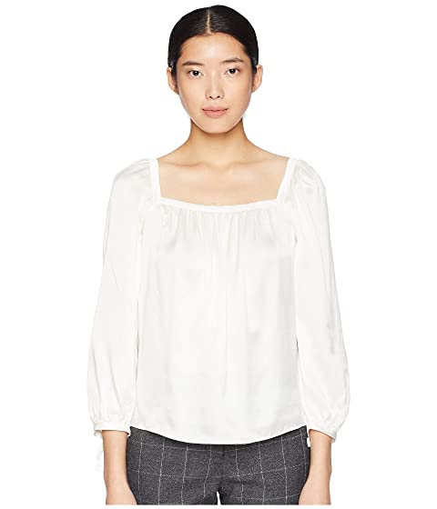 Rebecca Taylor Long Sleeve Charmeuse Top