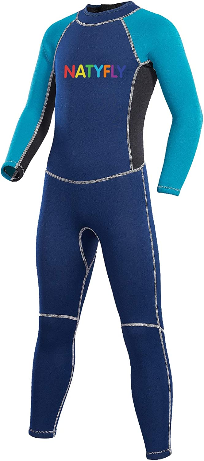 NATYFLY Kids Wetsuit Sale SALE% OFF 2.5mm Neoprene Full Wets Product Thermal Swimsuit