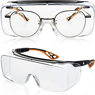 ゴーグル 一眼型保護メガネ 安全メガネ 防曇 保護用アイゴーグル 花粉用メガネ 防塵ゴーグル 作業用 眼鏡着用可 男女兼用