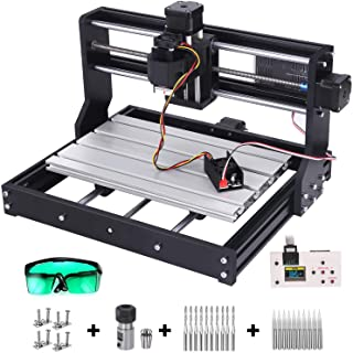 2-in-1 7000 m W 3018 Pro CNC Router Kit, Mcwdoit GRBL Control 3 Axis Wood Plastic Acrylic PCB PVC Carving Milling Engravin...