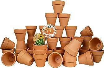 My Urban Crafts 40 Pcs Small Mini Clay Pots 2.1 inch Mini Terracotta Pots Clay Ceramic Pottery Planter Cactus Flower Pots Succulent Nursery Pot Great for Indoor/Outdoor Plants, Crafts, Wedding Favors