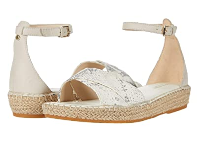 Cole Haan Cloudfeel Espadrille Ankle Strap Sandal (Natural Chalk Python Print Leather/Pumice Stone Leather) Women