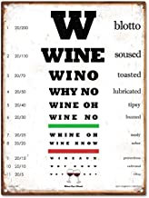 • Wine Eye Chart 12x16 Metal Sign. FUNNY GIFT! Put a Huge smile on their face with this hilarious wine lover gift for him or her! Home Bar Decor, Kitchen, Wine Cellar, Man Cave, Birthdays
