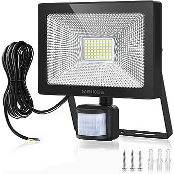 MEIKEE 50W LED Strahler mit Bewegungsmelder 5000 LM superhell LED Fluter IP66 wasserdicht Außenstrahler Flutlichtstrahler Scheinwerfer Licht
