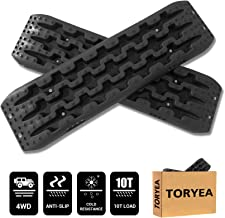 Toryea Black 2 Pcs Recovery Traction Board for Off-Road Mud, Sand, Snow Vehicle Extraction