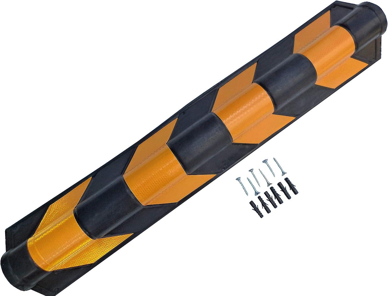 Sns Safety Ltd Gummi Eckenschützer 20 Mm Dick Für Garagen Und Lagerhäuser Schwarz Und Gelb 80x10x10 Cm 1 Stück Baumarkt