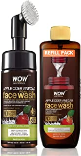 WOW Skin Science Apple Cider Vinegar Foaming Face Wash Save Earth Combo Pack- Consist of Foaming Face Wash with Built-In B...