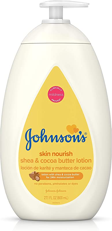 Johnson S Moisturizing Dry Skin Baby Lotion With Shea Cocoa Butter 27 1 Fl Oz