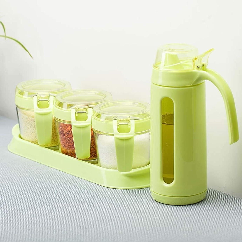 母公破壊するZANYUYU ハットガラスの調味料の瓶セットキッチン調味料ボックス調味料の瓶設定したオイルポット、ソルトシェーカーでスプーンセット