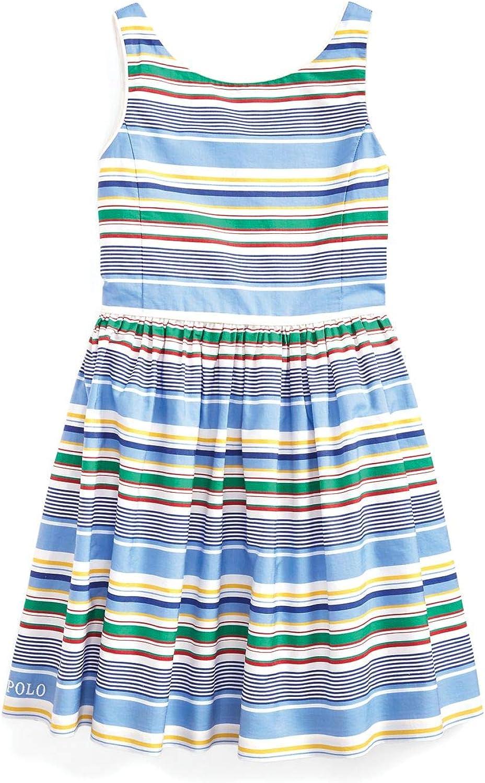 Polo Ralph Lauren Girl`s Striped Cotton Poplin Dress