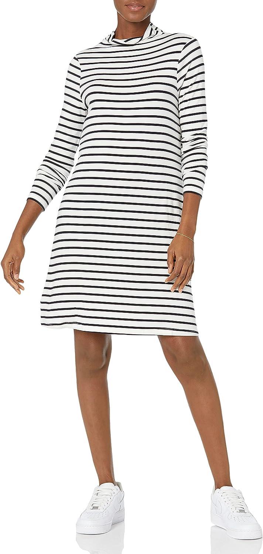 Daily Ritual Super-cheap Women's Jersey Mock-Neck Dress Swing Ranking TOP8