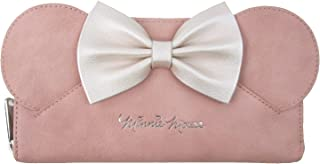 x Disney Minnie Mouse Ears Bow Zip Around Wallet, Pink, One Size