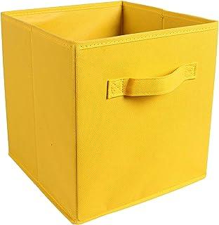 Sac de Rangement Portable, boîte de Rangement pour Placard de Rangement Cube Panier de Rangement pour Articles Divers