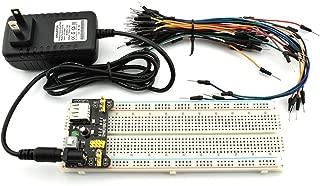 HJ Garden Electronic Component Power Supply Module Assorted Kit for Arduino, Raspberry Pi, STM32, UNO, MEGA2560 830P Breadboard + Power Module + Jumper + 12V 1A Adaptor