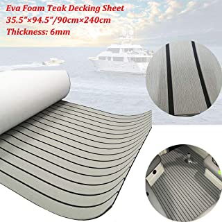 EVA Faux Teak Decking Sheet for Yacht/Boat Non-Slip Pads 94.5