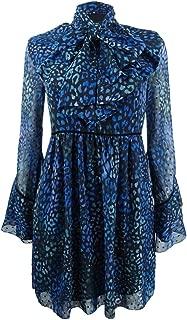 Laundry by Shelli Segal Women's Leopard Print Clip Dot Neck Tie Dress