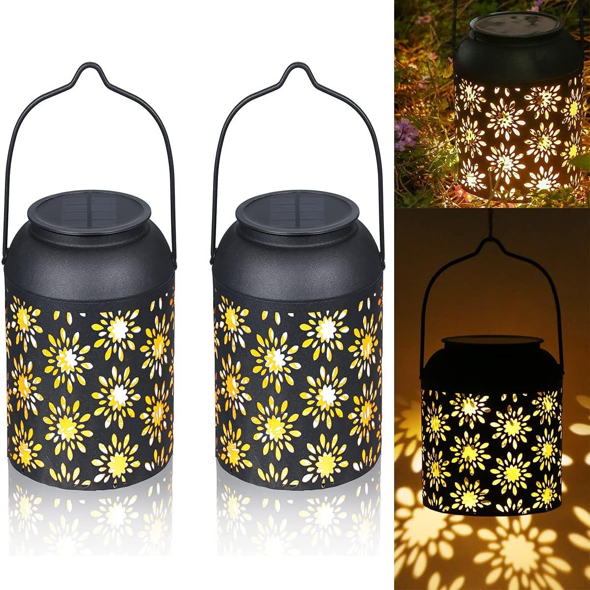 Max 54% OFF Tom-shine 2 Pack Hanging favorite Solar Outdoor Lantern Lanterns Lights