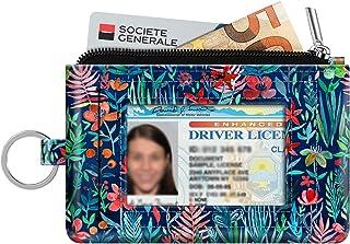 Zip ID Case Card Holder, Fintie Slim Coin Purse Wallet RFID Blocking Change Pouch with Key Chain