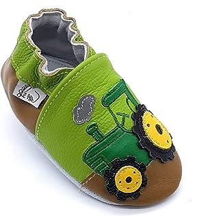 Neonato Sandalo Pantofole Scarpe Scarpine Bambino Bimbo Bimba in Morbida Pelle LEPEPPE Nido Primi Passi da 0//6 Mesi a 3 Anni Sandalo Goccia Azzurro