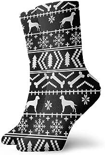 shenguang, Niños Niñas Crazy Funny Dalmatian Fair Isle 2 Calcetines de vestir novedosos lindos