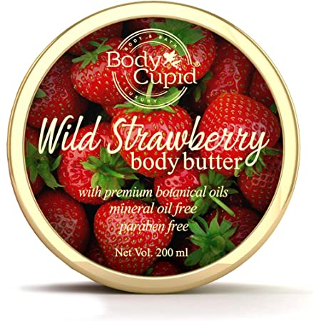 Body Cupid Wild Strawberry Body Butter with Shea and Cocoa butters - 200 ml