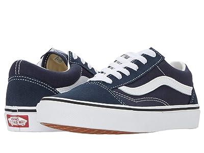 Vans Kids Old Skool (Big Kid) (India Ink/True White) Boys Shoes