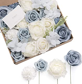 Ling's moment Artificial Flowers Box Set for Spring Summer Wedding Cake Bouquets Centerpieces Arrangements Party Baby Shower Home Decorations