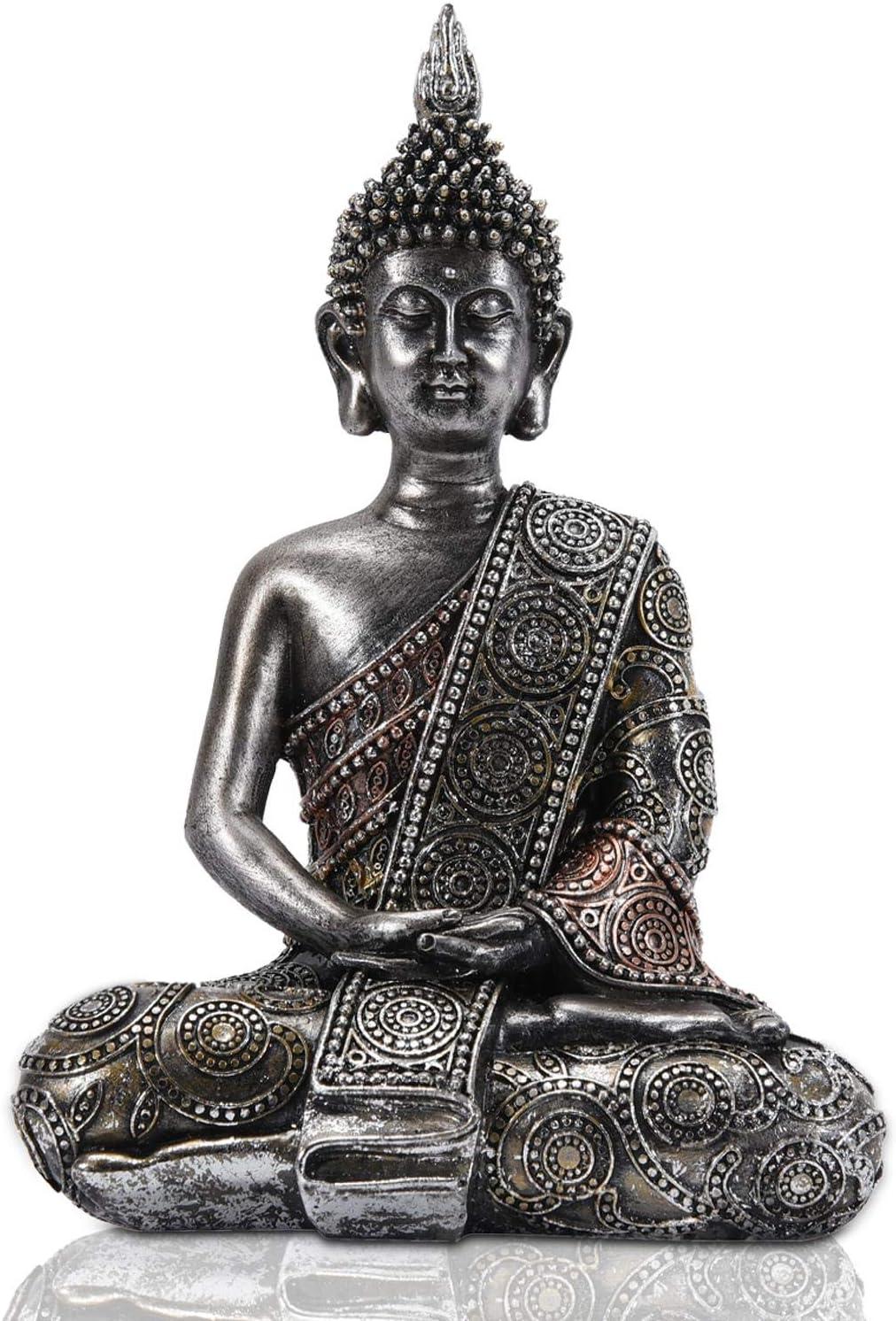 Nacome Meditating Quantity limited Thai Buddha Zen Statue Over item handling Garden Figurine