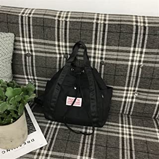 Leng QL Personality Backpacks Fashionable Canvas Stitching Traveling Rucksack Handbag Backpack(Small Size)