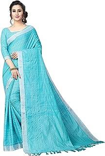 Bollywood Designer Party Wear Women's Linen Saree with Blouse Piece (LinenMiinniimumvaariation)