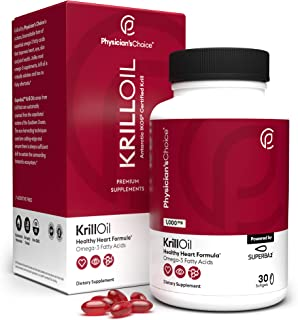 Antarctic Krill Oil - 1000 mg (Double Strength) Sustainably Sourced with 100% Traceability, Superba2 Krill Omega 3 with As...